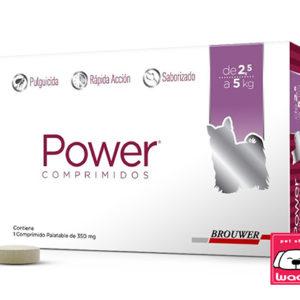 PASTILLA ANTI-PULGAS POWER ( 30 DÍAS DURACIÓN )  2.5 a 5 kg